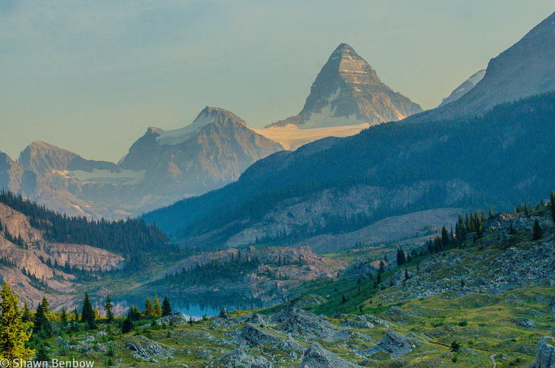 Looking south to Mount Assiniboine and Og Lake from the Valley of the Rocks