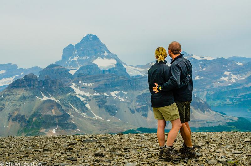 Jenn and Shawn on the Mount Cautley Summit [2880m] on the Mount Cautley Summit [2880m]