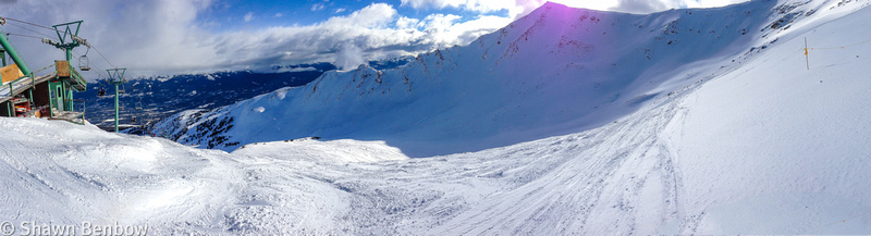 View of Marmot Basin from the Knob area