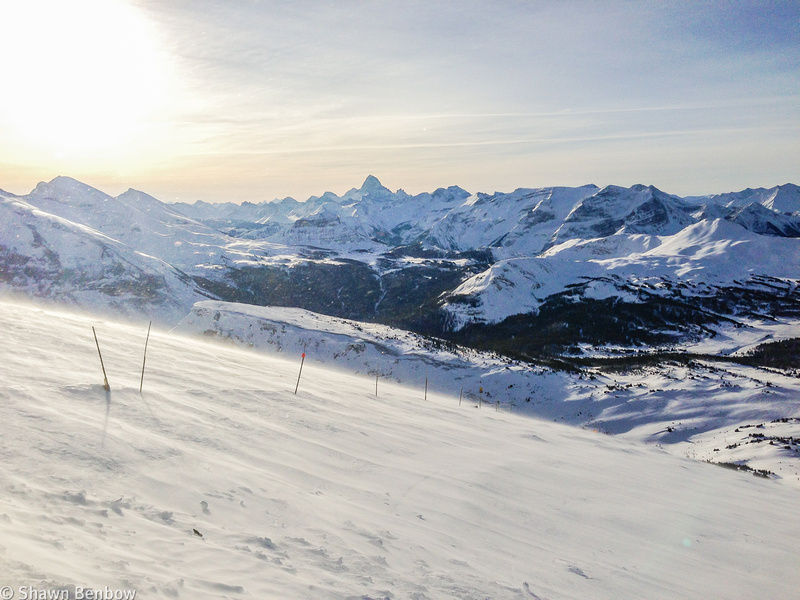 View south toward Mount Assiniboine from Lookout Mountain