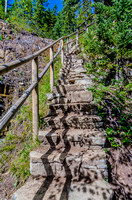 A nice set of stone stairs on the Grassi Lakes Trail.
