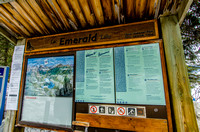 Trail Kiosk at Emerald Lake.