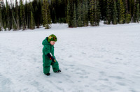 James playing in the snow on Emerald  Lake.