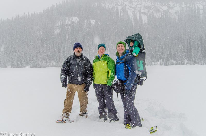 Uncle Bruce, Jenn, Shawn, and James at Hogarth Lakes.