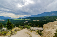 View over Columbia Lake from the Fairmont Hoodoos.