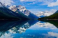 Reflection of Mount Forbes [3612m] and Division Mountain [3030m] in Glacier Lake