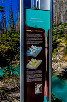 Interpretive panel about Marble Canyon