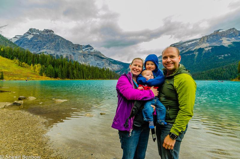Jenn, James, Shawn and Walter at Emerald Lake.