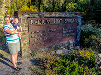 Jenn and James at Radium Hot Springs.