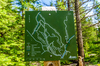 Trails accessable from the Cougar Creek area along Mount Lady Macdonal north of Canmore