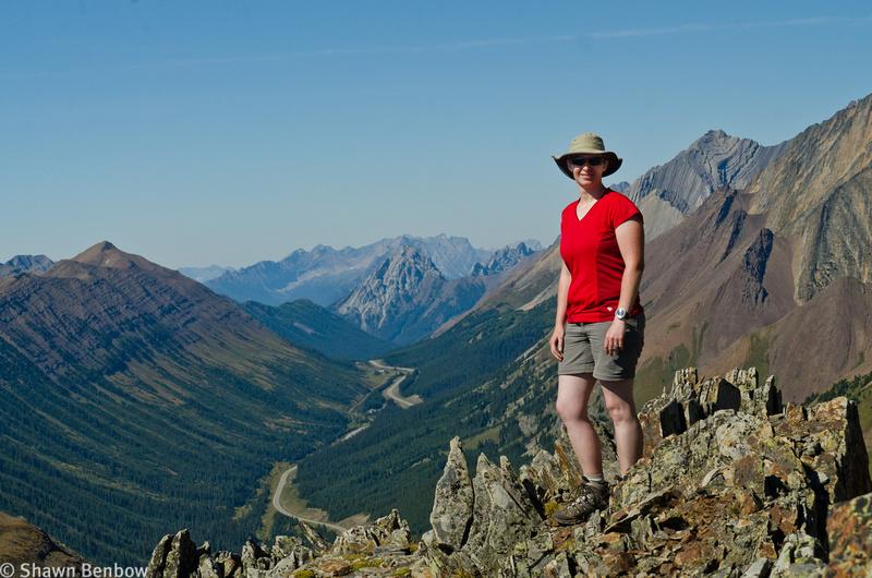 Jenn on Mount Lipsett