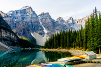 Morraine Lake in the Valley of the Ten Peaks
