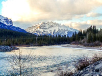 Cascade Mountain and the Bow River.