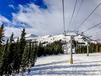 View up the Paradise Chair at Marmot Basin