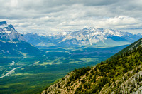 Cascade Mountain [2998m] and the Bow Valley from Mount Lady Macdonald