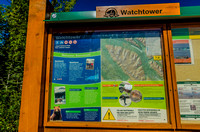 The Watchtower Trail kiosk.