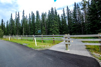 The west end of the Banff Legacy Trail starts at the Bow Valley Parkway/Trans-Canada Highway interchange.