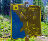 Floe Lake Campground sign