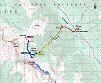 Floe Lake Backpacking Trip Map