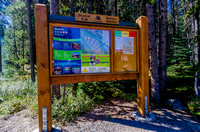 Information kiosk for the Skyline Trail.