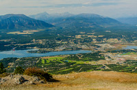 Invermere and the northern Windermere Lake in the Columbia Valley.