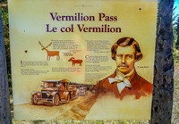 Information panel about Vermillion Pass.