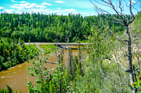 Highway 16A bridge over the Pembina River.