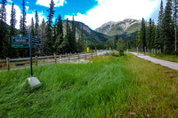 The west end of the Banff Legacy Trail.