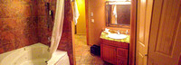 Bathroom in the hotel in Fairmont.