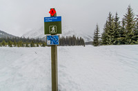 The Hogarth Trail is a 4.6km snowshoe trail loop around Hogarth Lakes.