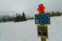 Start of the Hogarth Lakes Snowshoe Trail