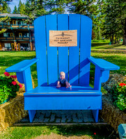 James in the big chair at the Fairmont Hot Springs.