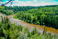 The Pembina River from the viewpoint.