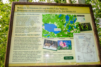Trailhead information for the Shirley Lake and Simmons Trail at Elk Island National Park.