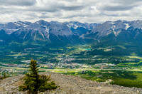 Canmore and the Bow Valley under the Ehagay Nakoda Range (on the