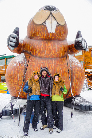 Shawn, Andrew, and Jenn in front of the Big Beaver