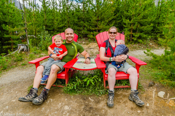 James, Shawn, Jenn, and Walter in the Red Chairs at Marble Canyon.