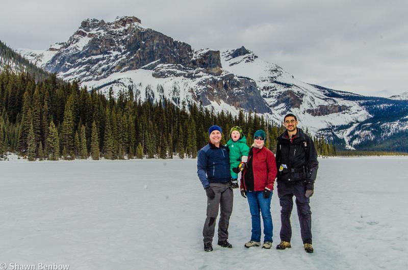 Shawn, James, Jenn, and Andrew at Emerald Lake.