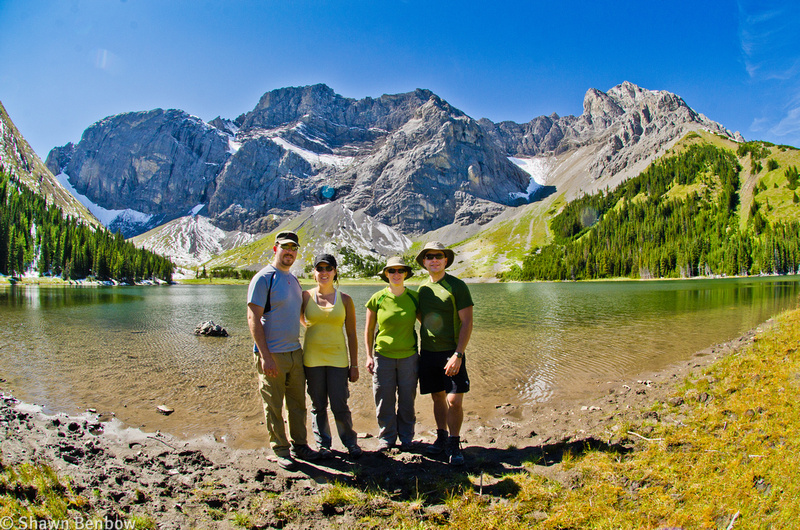 Adam, Christina, Jenn, and Shawn at Rae Lake