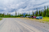 The unofficial parking lot for Tent Ridge is about 1.8km along the Mount Shark Road.