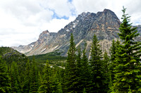 Throne Mountain (3120m) from the Verdant Pass Trail
