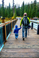 James and Shawn on the bridge that connects the Emerald Lake Lodge to the day use area.