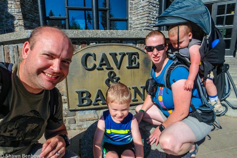 Shawn, James, Jenn, and Walter at Cave and Basin.