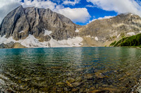 Floe Lake and Floe Peak.